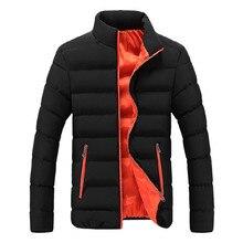 Cotton winter new men's jacket Parker men's autumn and winter warm jacket brand Slim men's jacket casual windbreaker cotton coat женская куртка brand new slim o 658052 jacket