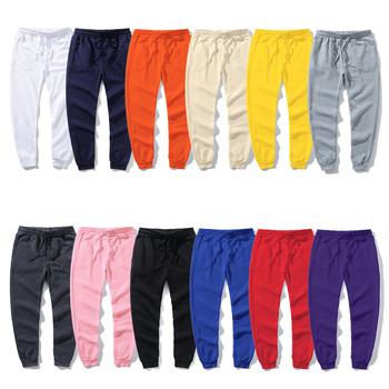 2020 nowe damskie spodnie markowe spodnie dorywczo spodnie dresowe dla joggerów spodnie dresowe na co dzień 12 kolorów siłownie Fitness ćwiczenia dresowe tanie i dobre opinie Proste CN (pochodzenie) Wysokiej Mieszkanie Poliester NONE REGULAR 12458 14 Polar Czesankowej Pełnej długości Sznurek