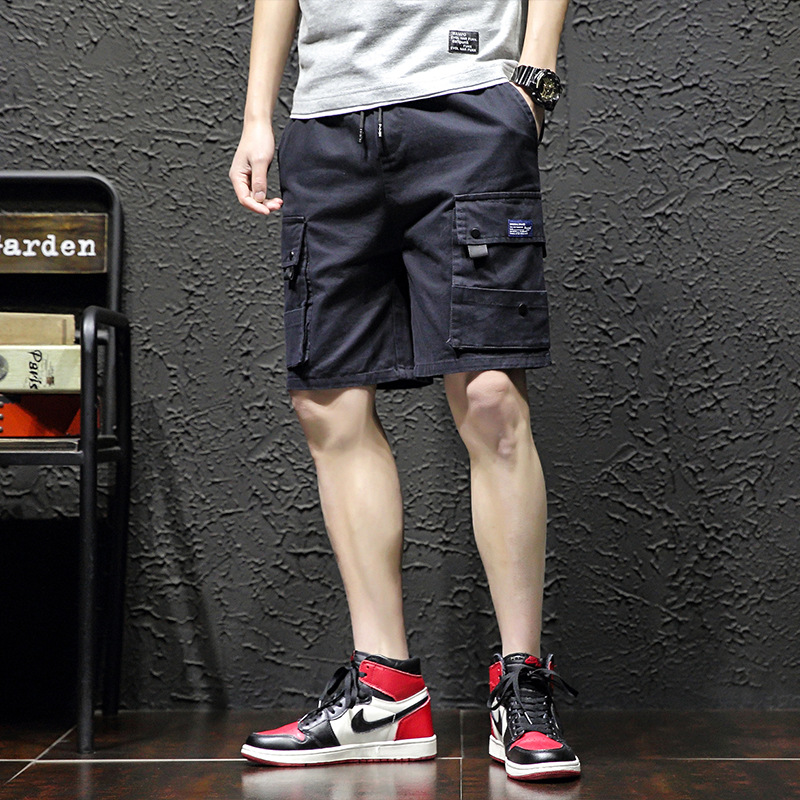 Summer Shorts Men's Workwear Casual Pants Men Loose Straight Pants Men's 5 Pants