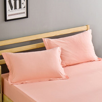 2 piece/Pair Solid Color Pillowcase 48cm*74cm 100% Cotton Pillow Case Cover For Bedroom Use XF686 22|Pillow Case| |  -