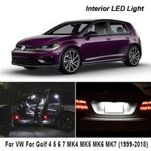 Idealny biały Canbus LED lampa pokojowa kryty mapie światło kopuły żarówka zestaw do VW do gry w golfa 4 5 6 7 MK4 MK5 MK6 MK7 (1999 2018)