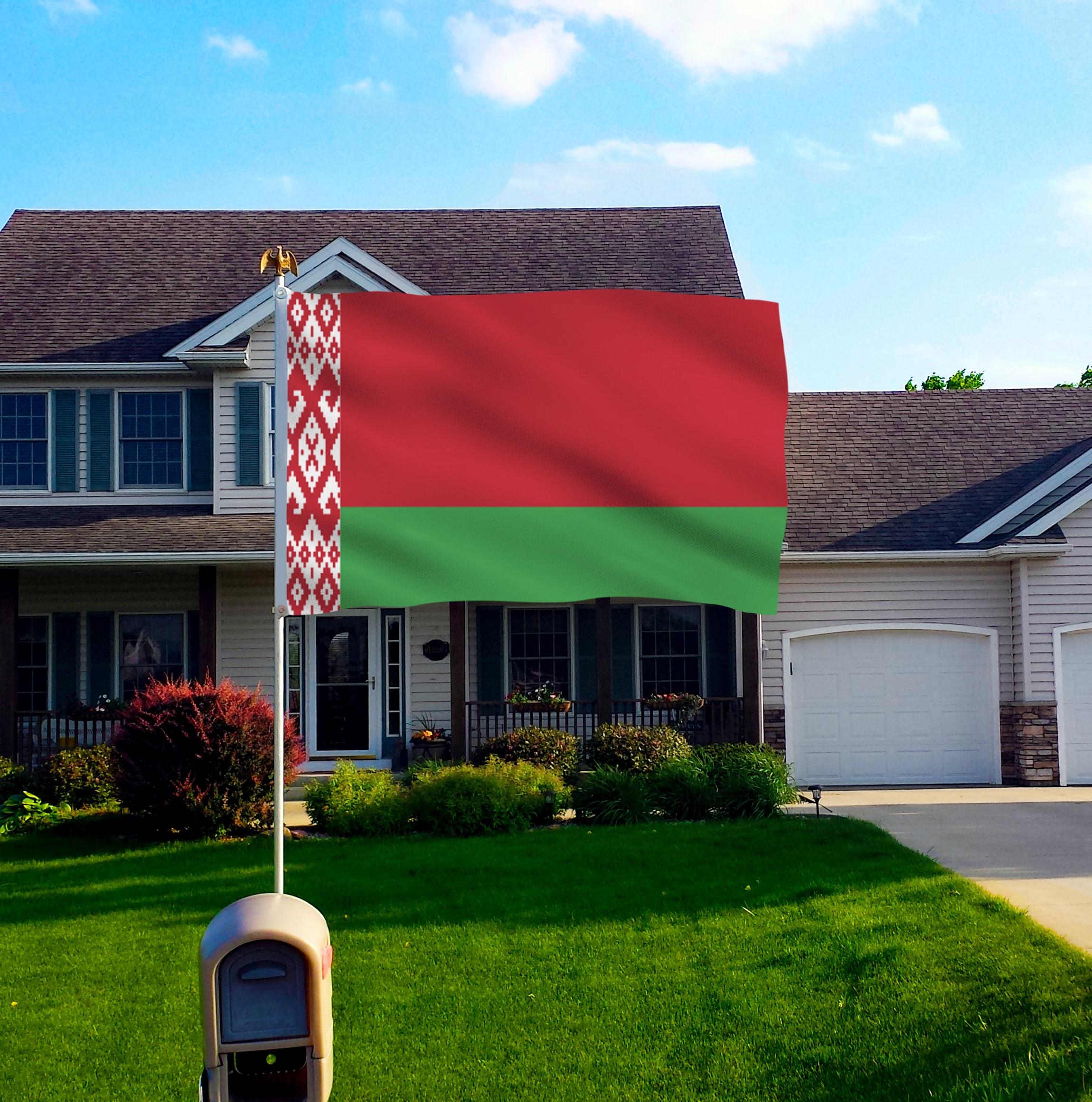 Belarus Bayraq Polyester Bayrağı 5 * 3 FT 150 * 90 CM Yüksək - Ev dekoru - Fotoqrafiya 3