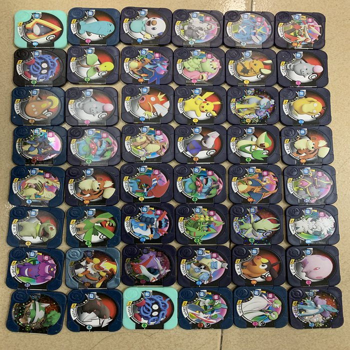 Original Edition Pokemon Tretta Machine Gold Black Hidden Pokemon Cards Game Collection Cards
