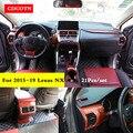 21 шт./компл.  автомобильные наклейки  внутренняя отделка  цвет древесины  накладка  панель  накладка  комплект  подходит для 15-19 Lexus NX  автомоби...