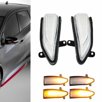 цена на For Nissan Altima, Sylphy 2013-2018 Dynamic Turn Signal LED Side Rearview Mirror Indicator Blinker Repeater Light