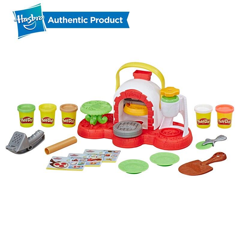 Juguete para horno de Pizza con sello y sello de Hasbro Play-Doh con 5 colores no tóxicos, creaciones de cocina, arcilla compuesta para niños, juegos divertidos - 2