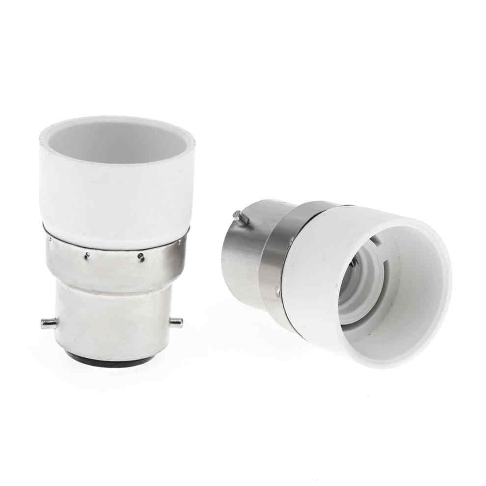 5 шт. B22 к E14 Светодиодный адаптер основы лампы Универсальный светильник конвертер патрон лампы
