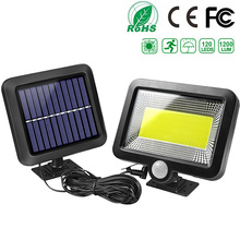 Solar-Light Porch-Lamp Motion-Sensor 100LED Street Garden Recharge Outdoor Waterproof