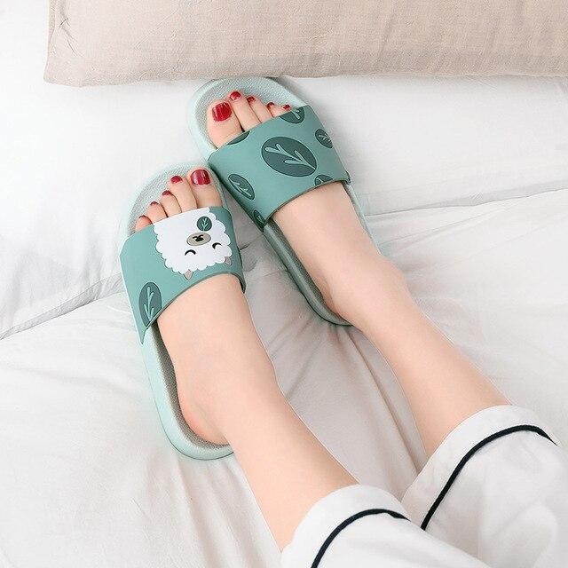 Sandales dintérieur pour femmes, chaussures dété, claquettes pour la maison, mignonnes, tongs pour la maison, SH391