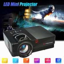 1800 люмен светодиодный мини-проектор VS67 Красный Синий 3D Full HD проектор стиль домашний кинотеатр проекторы Sup 1920x1080p