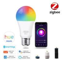 Inteligente Zigbee 3,0 Wifi bombilla de luz Led Tuya casa inteligente E27 bombilla Led Compatible con Hue de Philips Asistente de Google Alexa Smartthings