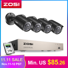 ZOSI Cctv-System Dvr-Kit Security-Camera Outdoor Home-Video Day/night Weatherproof 4PCS