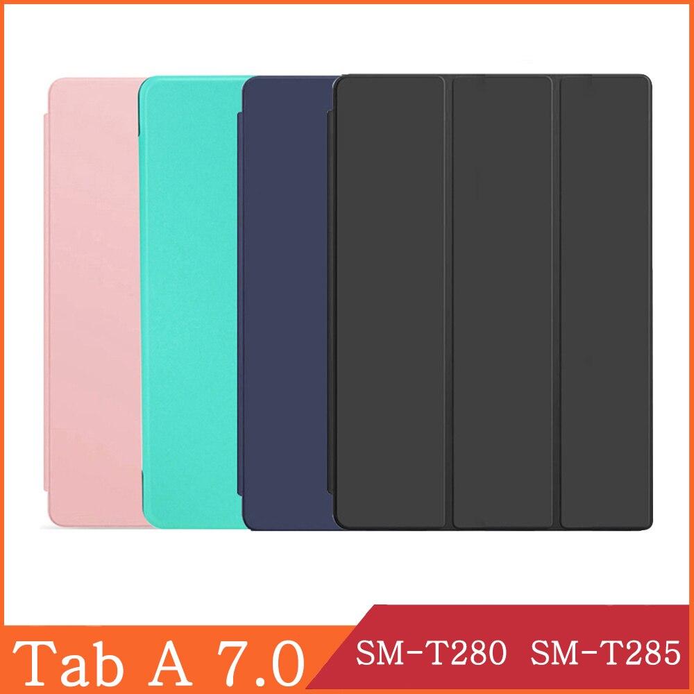Чехол для планшета Samsung Galaxy Tab A A6, 7,0 дюйма, 2016 дюйма, флип-чехол из мягкой искусственной кожи с подставкой и 4G Wi-Fi T280 T285-0