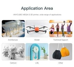 Image 5 - طابعة ANYCUBIC i3 mega S /Mega X ثلاثية الأبعاد إطار معدني كامل درجة عالية الدقة impresora ثلاثية الأبعاد لتقوم بها بنفسك أقنعة الطباعة ثلاثية الأبعاد drucker