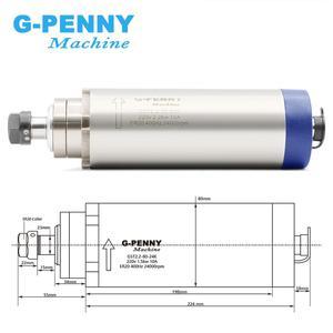 Image 2 - Frezowanie CNC wrzeciono 2.2kw ER20 wrzeciono chłodzone powietrzem 4 łożyska 24000 obr./min chłodzenie powietrzem i 2.2kw falownik VFD i wspornik wrzeciona 80mm