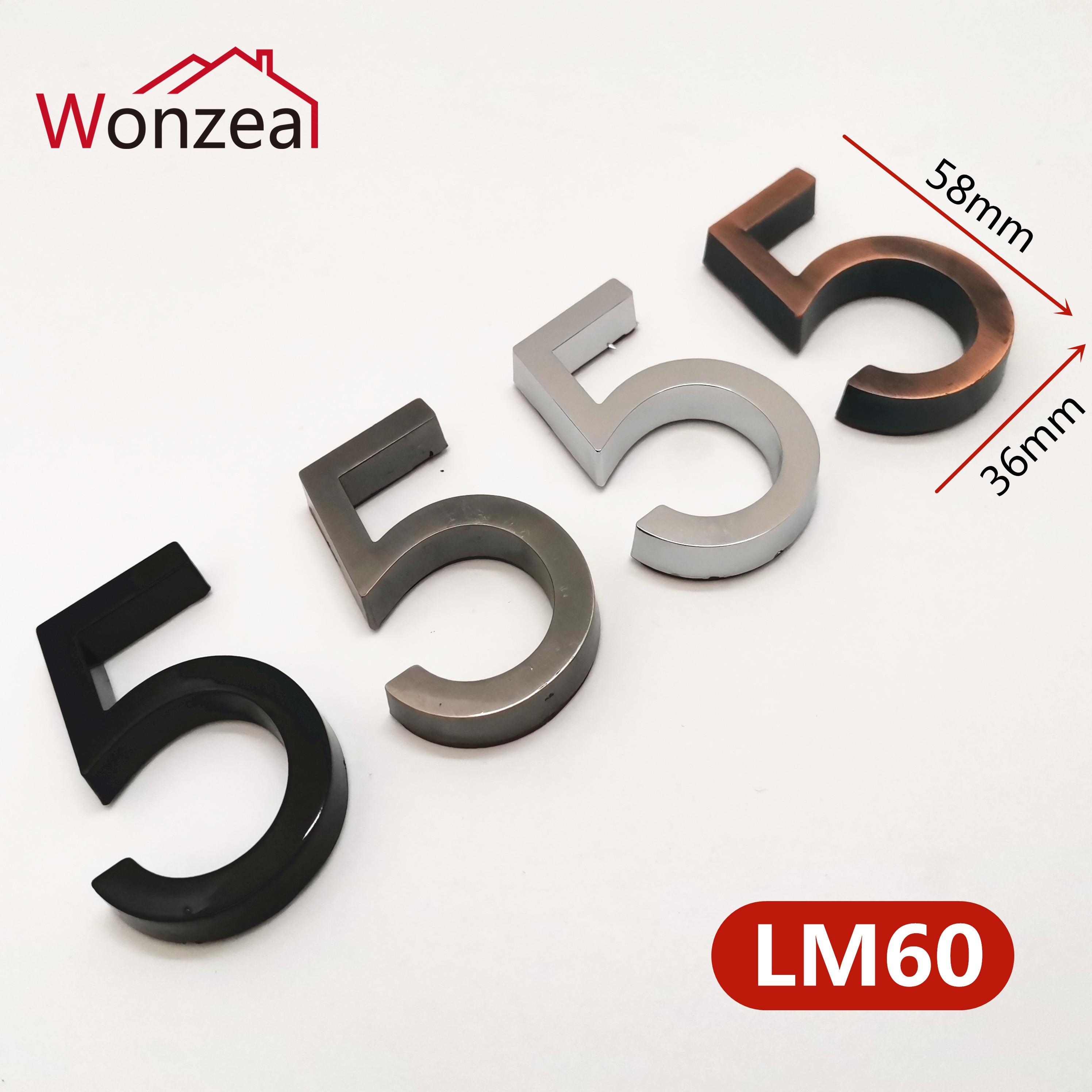 58mm 0123456789 nowoczesny numer drzwi tablica płyta drzwi numer domu numer drzwi hotelowe adres cyfry naklejki znak plastik ABS
