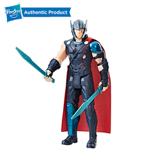 Hasbro Marvel Thor Ragnarok Electronic Thor PVC Action Figure Collectible Model Boys Toy With Sound Effects Christmas Gifts marvel universe variant play arts kai magneto pvc action figure collectible model toy 25cm