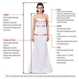 Image 4 - Vestidos de Fiesta formales largos de princesa rosa con Apliques de encaje de tul con cuello en V vestido de noche elegante vestido de fiesta de compromiso