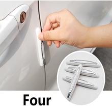 Door Anti-collision Strip Car Side Bumper Stick Scraping Rearview Mirror Decorative Supplies Universal