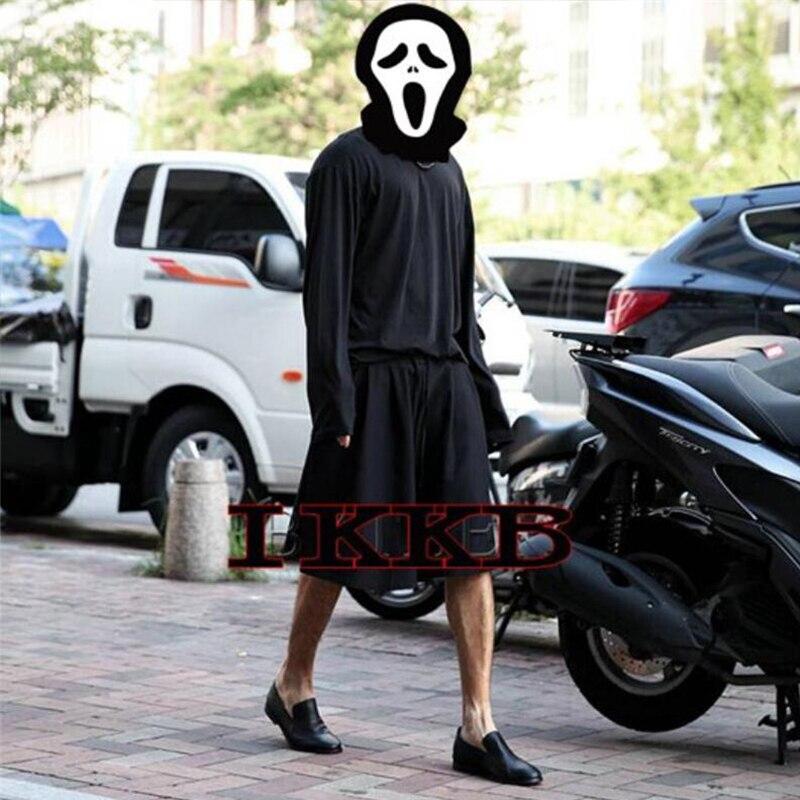 Summer New Korean Hip-hop Hairdresser Hip-hop Trendy Wide-leg Pants Skirt Pants Loose Shorts Large Size Personality Pants