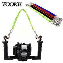 الغوص كاميرا صينية مقبض حبل الحبل حزام الناقل ل Gopro سوني كانون نيكون الإسكان حامل ضوء التصوير تحت الماء