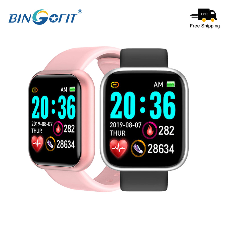 BingoFit Smart Watch For Women Heart Rate Monitor Smartwatch Android D20 smart Bracelet for Men Original Watches Fitness Tracker