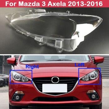 Transparent Car Headlight Headlamp Lens Auto Car Headlight Lens Shell Cover For Mazda 3 Axela 2013-2016 auto driving assistant smart wiper and headlight sensor for mazda cx 4 2016