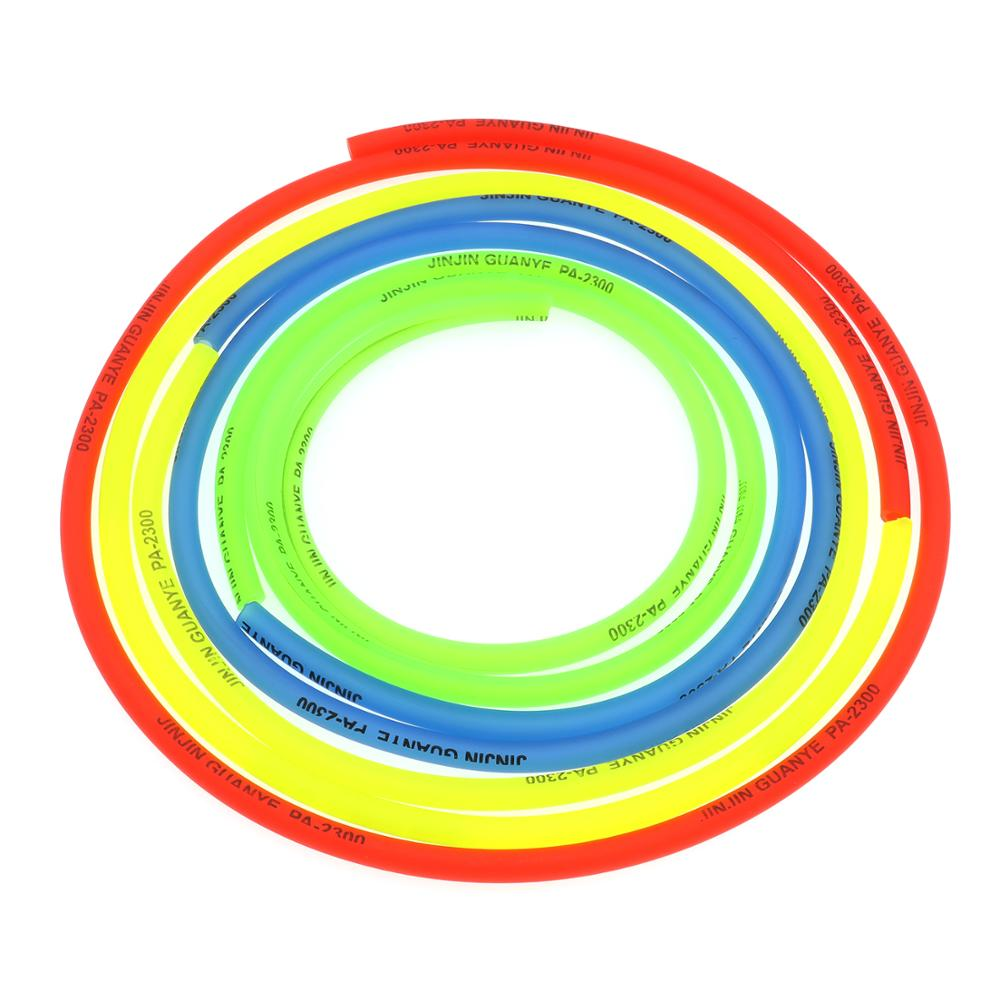 1m Yellow Red Blue Green 8mm(OD) x 5mm(ID) Rubber Oil Hose Tube Petrol Pipe Hose Line