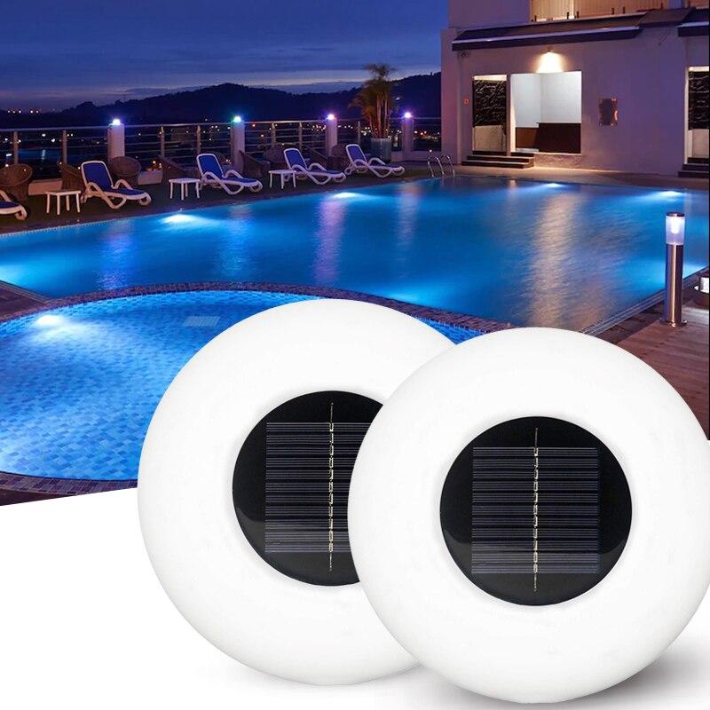 New Solar Swimming Pool Light LED Colorful Inflatable Swimming Pool Light Waterproof Floating Light Dazzling Floating Light 1
