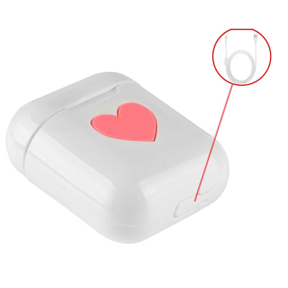 Piękny ochronna pokrywa dla Apple Air Pods sprawa TPU silikonowa słuchawki słodkie niebieski ząb bezprzewodowe słuchawki przypadkach na poduszki powietrzne