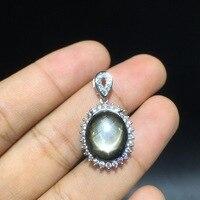 10mm*14mm natural star light sapphire pendant natural star sapphire ring pendant Changle Sapphire