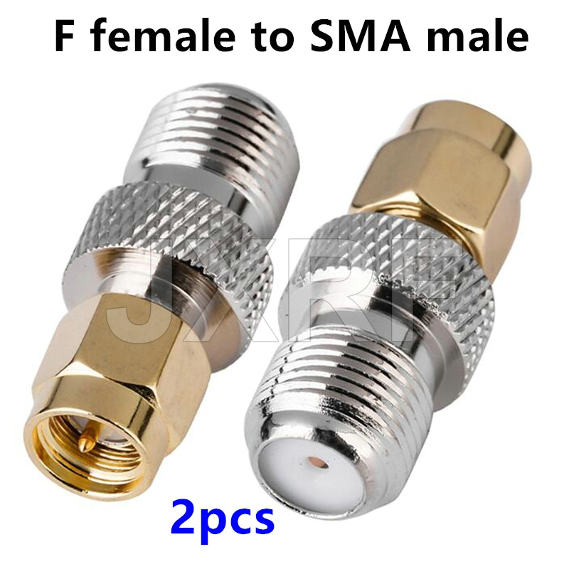 SMA Male Plug to F-Type Female Jack RF Coax Adapter Converter Connector 5 Pack