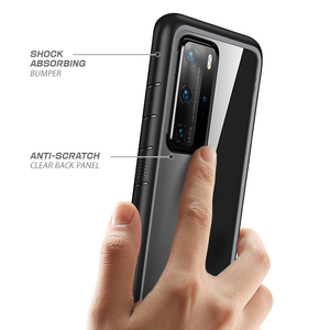 Image 5 - Para huawei p40 pro case (2020 lançamento) sucase ub estilo slim anti queda, proteção híbrida premium, amortecedor de tpu + capa transparente para pc