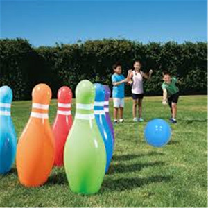 7 Pieces/set Kids Giant Inflatable Bowling Balls Set Outdoor Plaything Beach Grassland Game Ball Inflated Toys For Children(China)