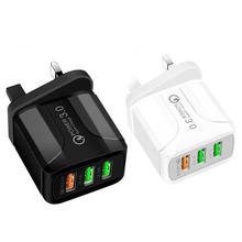 USB Charger Quick Charger 3.0 for Samsung A50 A70 iPhone 7 8 Xiaomi mi9 Tablet QC 3.0 Fast Wall Charger US EU UK Plug Adapter