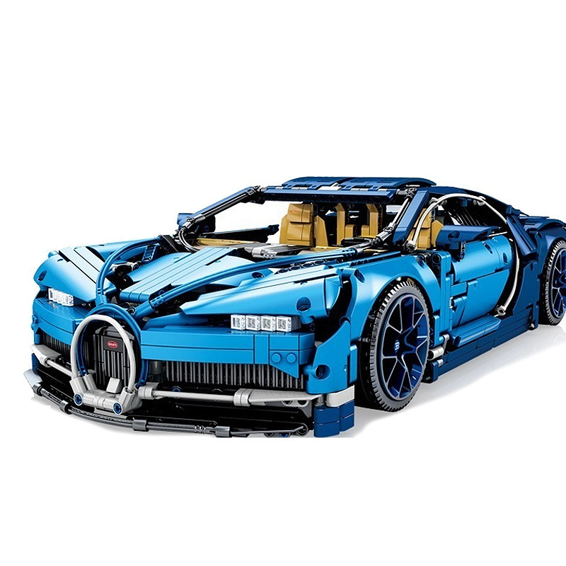 20086 Technic Series The Chiron Blue Racing Car Model Building Blocks Set 42083 Classic Toys For Children