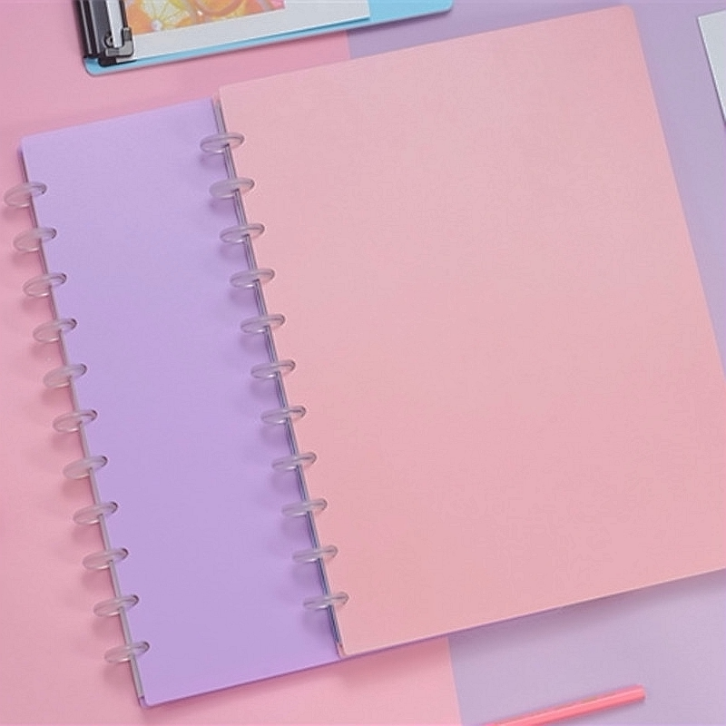 A4/A5 Candy Color Study Planner Notebook Loose-leaf Binder Notebooks Journal Removable Sketchbook Daily Planner A1909-041