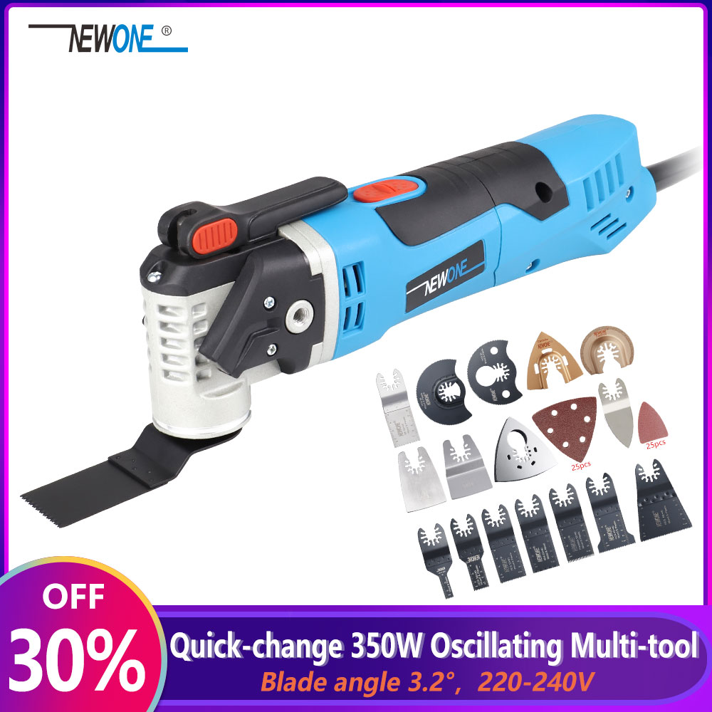 NEWONE 220V Quick Release Variable Speed Electric Multifunction Oscillating Tool Kit Multi-Tool Power Tool Electric Trimmer