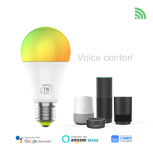 7W WiFi Smart LED Bulb E27  Wifi APP Remote Google Amazon alexa Voice Control RGB RGBW RGBCW Timing Light Magic home lamp