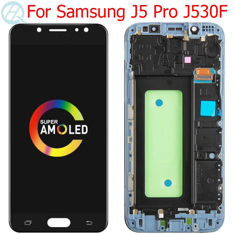 Original Super AMOLED J530F LCD For Samsung Galaxy J5 Pro 2017 Display With Frame 5.2
