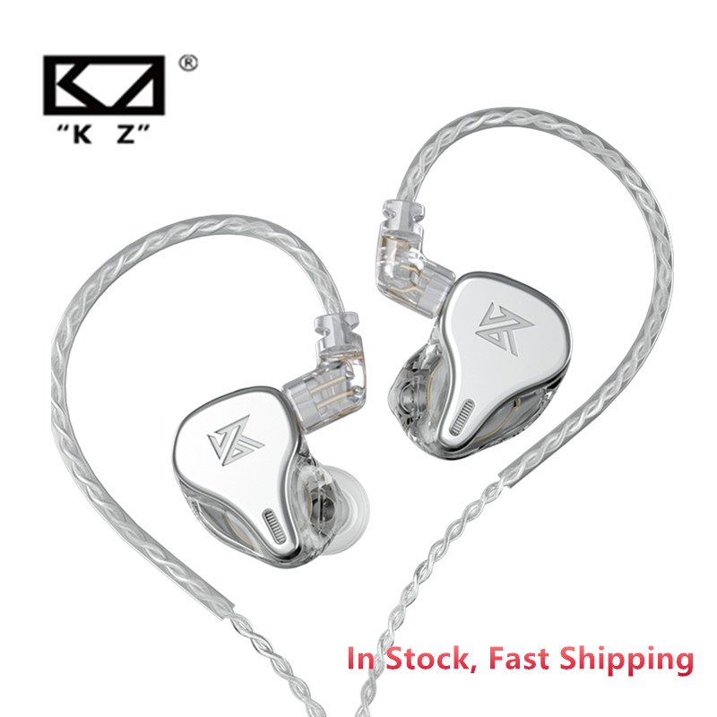 Mais recente unidade de movimentação dinâmica kz dq6 3dd em fones de ouvido de alta fidelidade música esportes fone de ouvido com 2pin prata-banhado a cabo kz edx zsn pro zsx