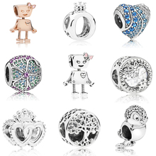 Summer Colletion Wholesale 100% 925 Sterling Silver Bella Bot charms Fit Pandora Bracelet Beads For Jewerly Making Gift