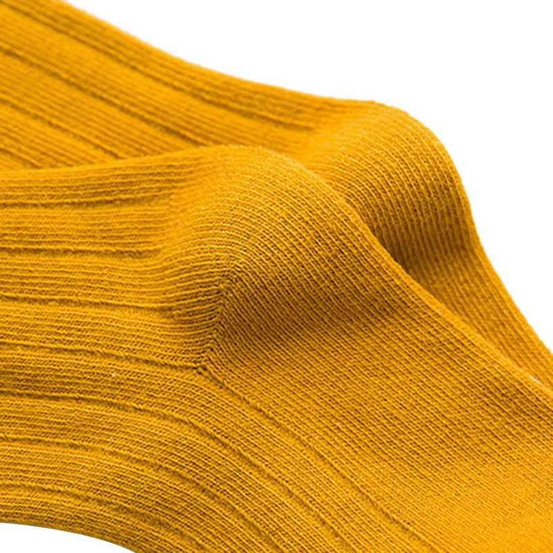0-10 T enfants longues chaussettes de couleur unie mi Tube bébé coton beauté bonbons couleurs enfants chaud chaussettes garçons filles