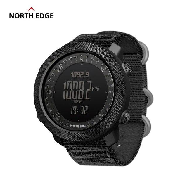 NORTH EDGE APACHE mężczyźni sport cyfrowy zegarek godziny działa pływanie zegarki wojskowe barometr wysokościomierz kompas wodoodporny