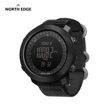 North edge apache relógio digital esportivo masculino, horas, corrida, natação, relógios militares, altímetro, barômetro, bússola à prova d água