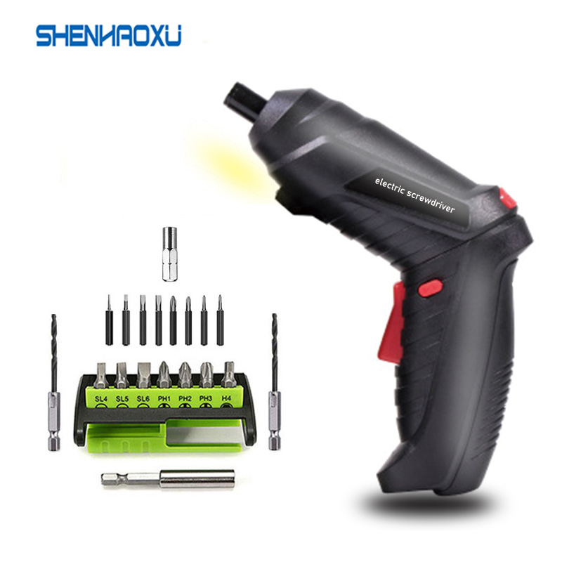3.6V Cordless Mini Electric Screwdriver Shape-shifting Power Tools Rechargeable 1300mah Lithium-ion Electric Drill Home DIY