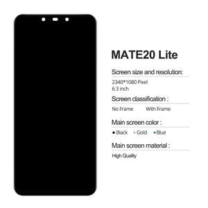 Image 2 - 100% teste de exibição mate 20 lite lcd com quadro display toque digitador da tela para huawei mate20 lite sne lx1 lx2 lx3 tela