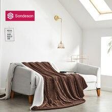 Sondeson Скандинавское кофейное одеяло теплое волшебное флисовое