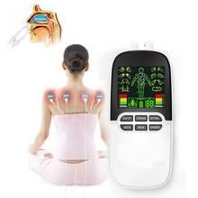 עשרות EMS Boby לעיסוי נזלת אלרגיה משכך אלקטרו גירוי ממריץ שרירים Electrostimulator פיזיותרפיה מרידיאן