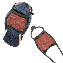 1 para buty Ice Gripper antypoślizgowe uchwyty do butów Ice knagi kolce Snow Gripper antypoślizgowe raki silikonowe raki do butów sportowych tanie tanio